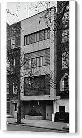 A Townhouse Designed By William Lescaze Acrylic Print