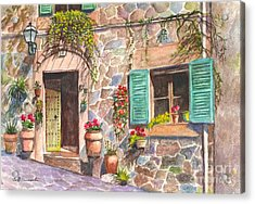 A Townhouse In Majorca Spain Acrylic Print