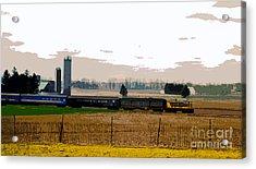 Acrylic Print featuring the photograph A Train Runs Through It by Nina Silver