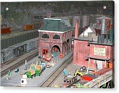 A Train Station Acrylic Print by Hugh McClean