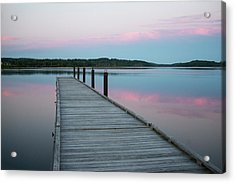 A Tranquil Evening On The Dock Acrylic Print