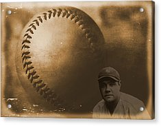 A Tribute To Babe Ruth And Baseball Acrylic Print by Dan Sproul