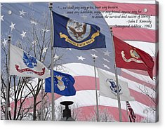 A Tribute To Our Freedom Acrylic Print by Ron Grafe