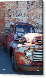 Acrylic Print featuring the photograph A Truck In Goodland by Lynn Sprowl