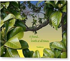 A True Friend Acrylic Print by Larry Bishop