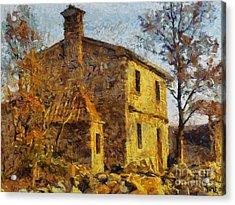 A Typical  Karstic House Acrylic Print by Dragica  Micki Fortuna