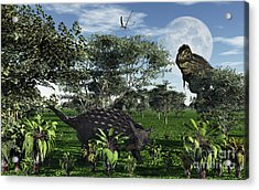 A Tyrannosaurus Rex Stalking Acrylic Print