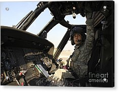 A Uh-60 Black Hawk Helicopter Acrylic Print by Stocktrek Images
