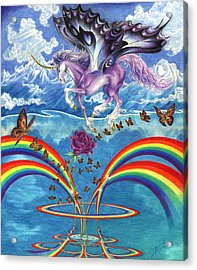 A Unicorn's Love Acrylic Print by Barry Munden