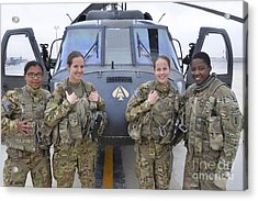 A U.s. Army All Female Crew Acrylic Print