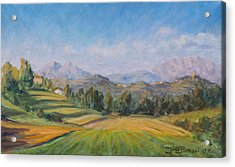 A Valley In Brianza Acrylic Print by Marco Busoni