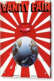 A Vanity Fair Cover Depicting The Rise Of Japan Acrylic Print by Paolo Garretto