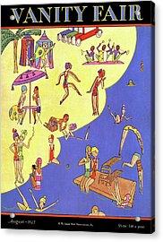 A Vanity Fair Cover Of Beach Goers Acrylic Print