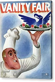 A Vanity Fair Cover Of Roosevelt At Thanksgiving Acrylic Print by Miguel Covarrubias