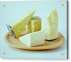 A Variety Of Cheese On A Plate Acrylic Print