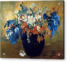 A Vase Of Flowers Acrylic Print by Paul Gauguin
