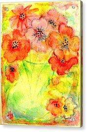 A Vaseful Of Sunshine Acrylic Print by Hazel Holland
