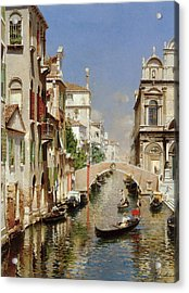 A Venetian Canal  Acrylic Print by Rubens Santoro