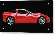A Very Red Corvette Z6 Acrylic Print by Allen Beatty