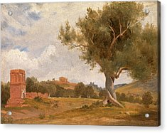 A View At Girgenti In Sicily With The Temple Of Concord Acrylic Print