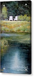 A View For Two  Acrylic Print by Lori  McNee