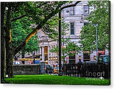 A View From Central Park Acrylic Print by Mary Carol Story