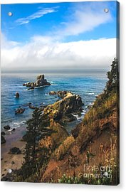 A View From Ecola State Park Acrylic Print by Robert Bales