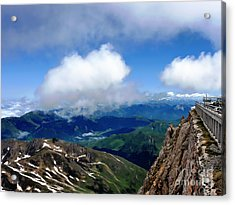 A View From Pic Du Mide Observatory Acrylic Print by Graham Taylor