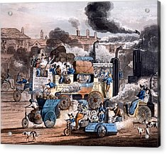 A View In White Chapel Road 1830 Acrylic Print by English School