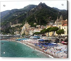 A View Of Amalfi Acrylic Print by H Hoffman