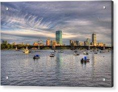 A View Of Back Bay - Boston Skyline Acrylic Print by Joann Vitali