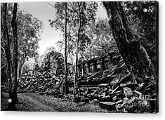 Acrylic Print featuring the photograph A View Of Beng Mealea by Julian Cook