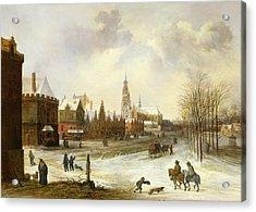 A View Of Breda Acrylic Print by Frans de Momper