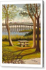 A View Of Crossbay Bridge Acrylic Print