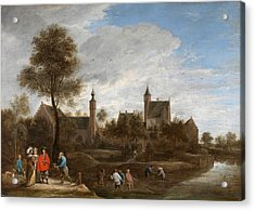 A View Of Het Sterckshof Near Antwerp Acrylic Print by David Teniers the Younger