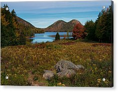 A View Of Jordan Pond Acrylic Print