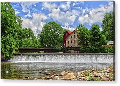 Acrylic Print featuring the photograph A View Of The Mill From The River by Debra Fedchin