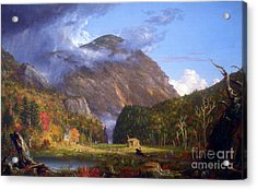 A View Of The Mountain Pass Called The Notch Of The White Mountans By Thomas Cole Acrylic Print
