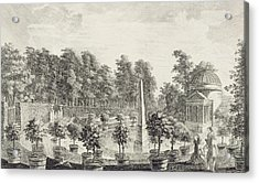 A View Of The Orangery Acrylic Print by Pieter Andreas Rysbrack