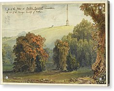 A View Of The Pillar At Burton Pynsent Acrylic Print by British Library