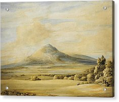 A View Of The Wrekin In Shropshire Going From Wenlock To Shrewsbury Acrylic Print