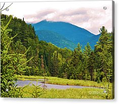 A View Of Whiteface Mountain Acrylic Print by Judy Via-Wolff