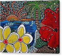 A View Through An Island Paradise Acrylic Print
