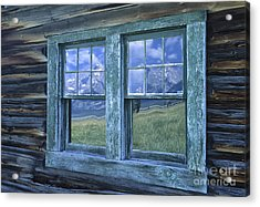 A View To The Tetons Acrylic Print by Sandra Bronstein