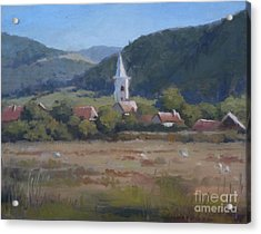 A Village In Erdely Acrylic Print