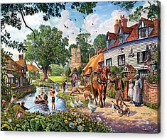 A Village In Summer Acrylic Print
