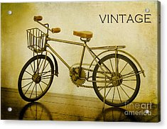 A Vintage Bike Acrylic Print by MaryJane Armstrong