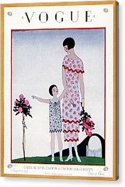 A Vintage Vogue Magazine Cover Of A Child Acrylic Print by Andre E.  Marty