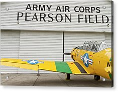 A Vintage World War II Military Trainer Acrylic Print by William Sutton