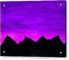 A Violet Dream Acrylic Print